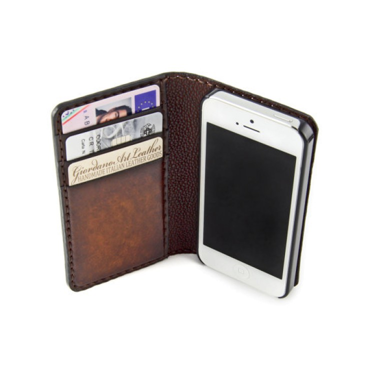 custodia vera pelle iphone 5
