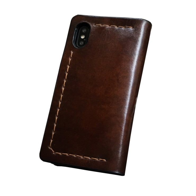 Cover a libro in pelle per iPhone X - Coccodrillo ৩ 33 mani