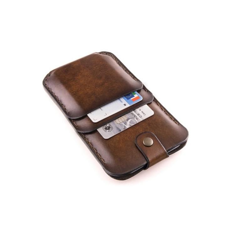 custodia iphone con portadocumenti