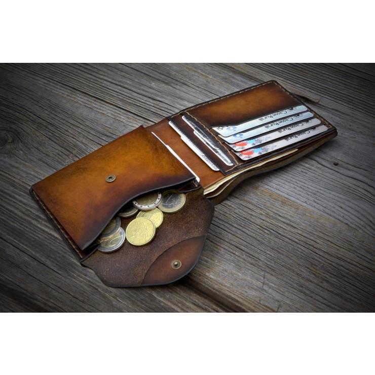 949a1c57d3 Portafoglio da uomo personalizzabile in pelle - Classic con portamonete