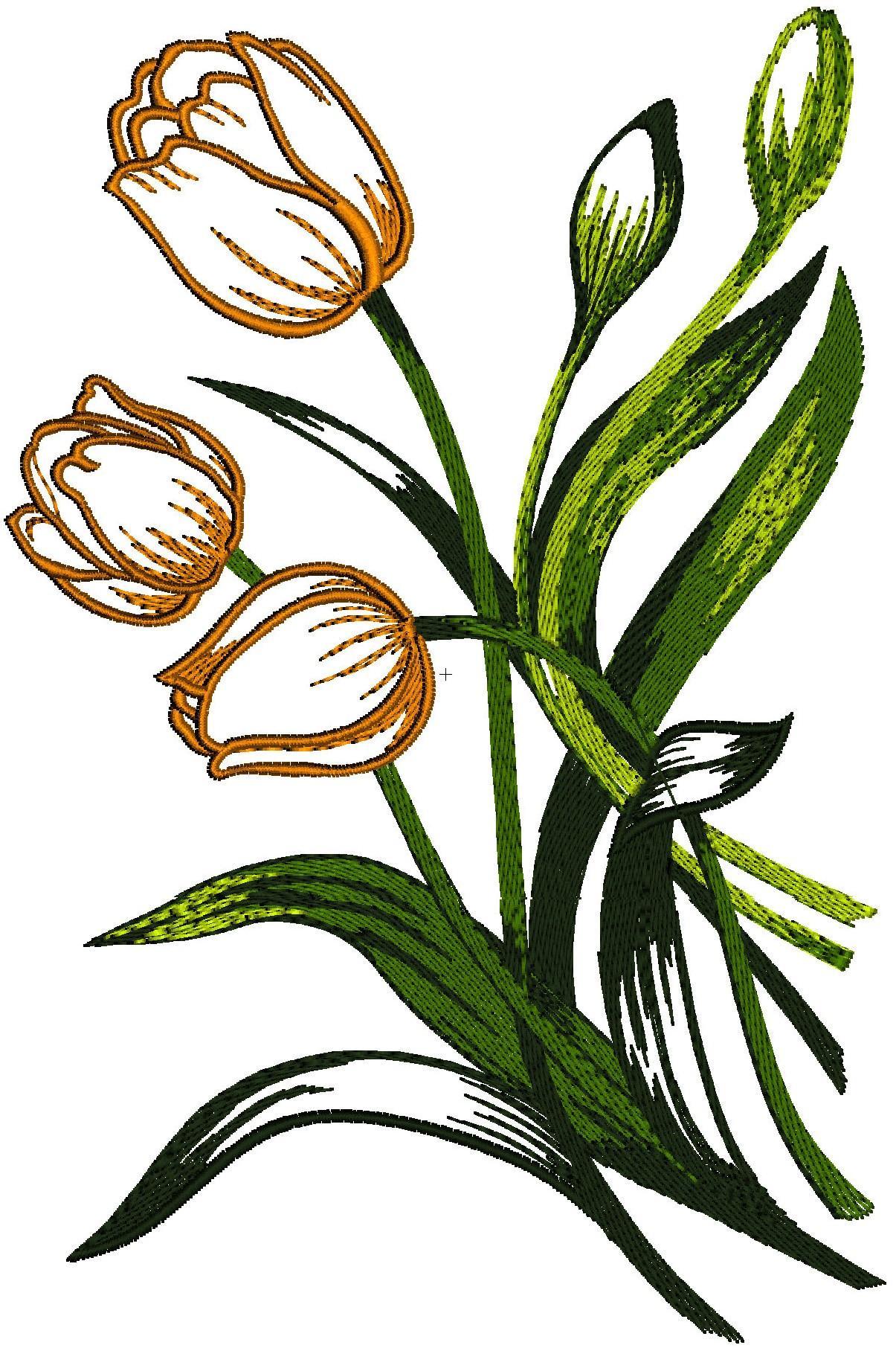 Vaso alto decorato con tulipani 33 mani for Tulipani arancioni