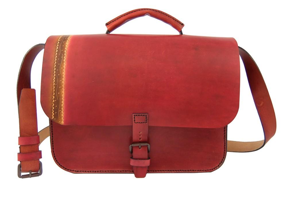 Cartella artigianale in pelle- Modello Red