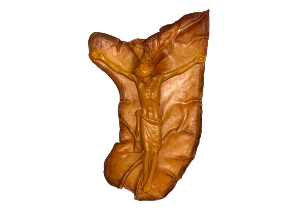 Crocifisso grande - Cuoio