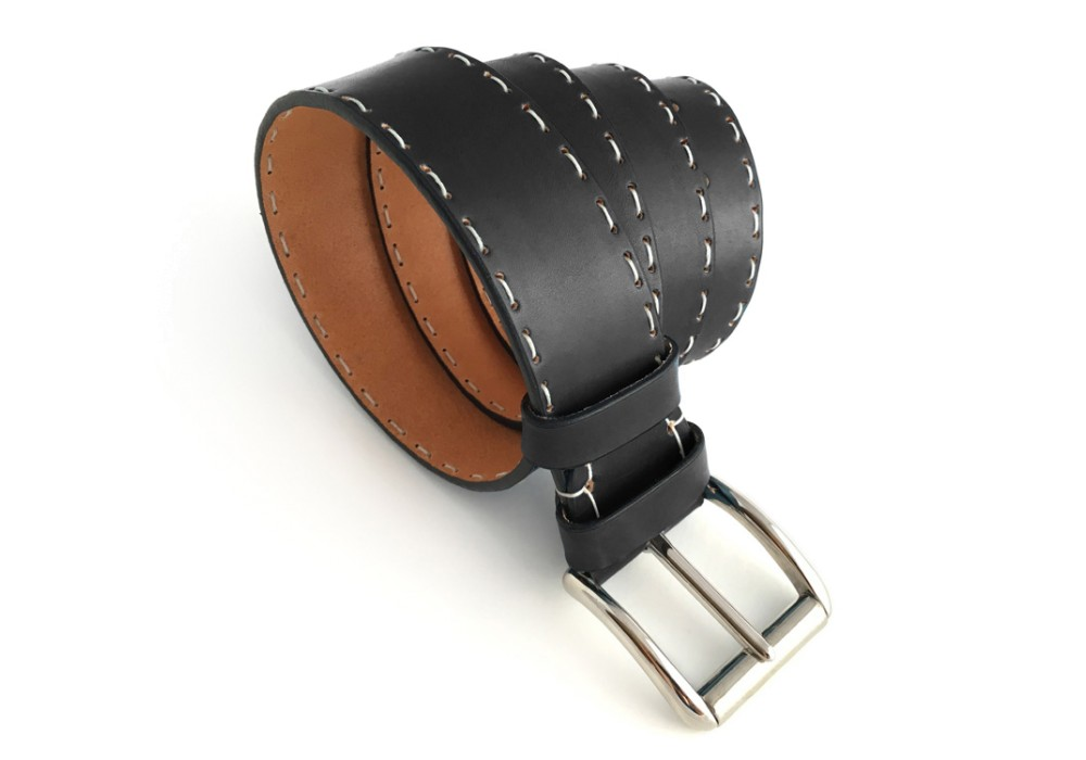 Cintura artigianale nero ossidiana