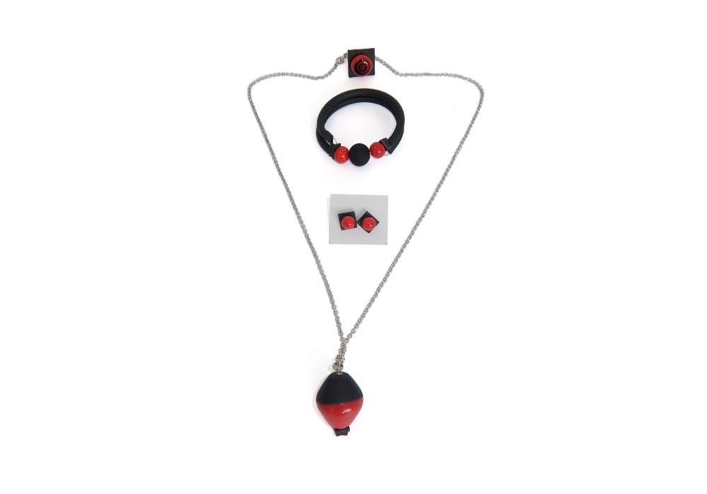 Set gioielli in vetro di murano - Marte
