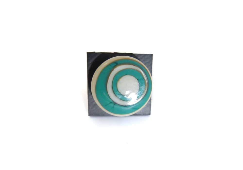Anello in vetro di murano - Malachite