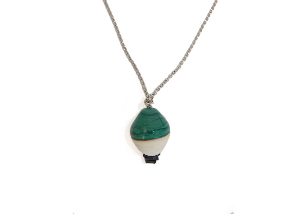 Collana in vetro di murano - Malachite