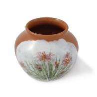 Vaso in ceramica smaltato con motivo floreale