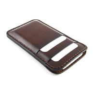 Custodia in pelle per iPhone 5/5s con tre tasche