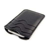 Custodia in pelle per iPhone 5/5s con quattro tasche arrotondate