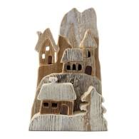 Villaggio montano in legno