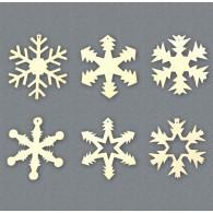 Decorazioni per albero - Fiocchi di Neve 6 PZ