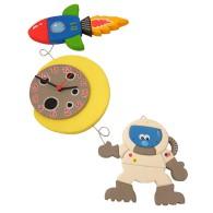 Orologio da parete per bambini - Razzo e Astronauta