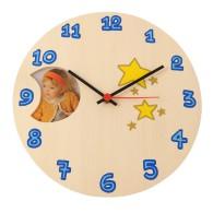 Orologio da parete per bambini personalizzabile - Cuori o Stelle
