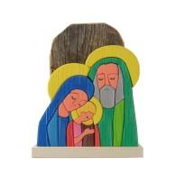 Presepe/Sacra Famiglia in legno massiccio