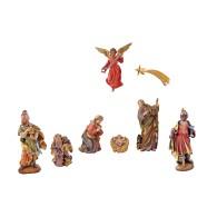 Statuine in legno presepe: presepe completo