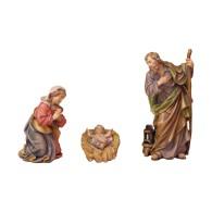 Statuine in legno presepe: Sacra Famiglia