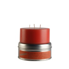 Confezione alluminio con candela cilindrica profumata
