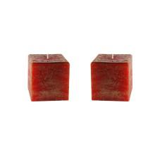 2 candele natalizie 9,5 x 9,5 x 9,5 cm - Cubo spugnato