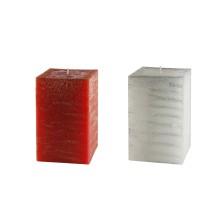 2 candele natalizie 9,5 x 9,5 x 15 cm  - Torre spugnata