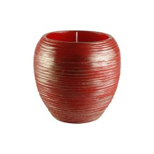Candela natalizia 15 x 15 cm - Vaso grande
