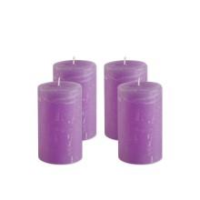 Set 4 candele profumate rustiche mezza colonna