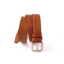 Cintura artigianale in pelle con decoro