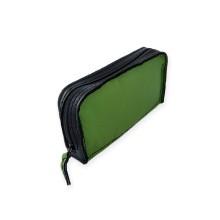 Portafoglio da donna in pelle color verde