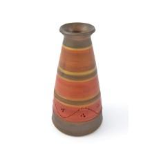 Vaso in ceramica rosso e verde