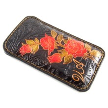 Custodia in pelle per iPhone 8/8 Plus con rose