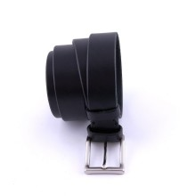 Cintura artigianale in pelle nera