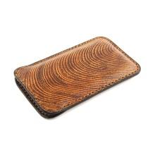 Custodia in pelle per iPhone X effetto legno