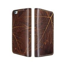 Cover a libro in pelle per iPhone XS/XS Max - Foglia