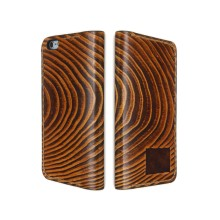 Cover a libro in pelle per iPhone 8/8 Plus - Legno