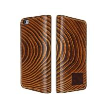 Cover a libro in pelle per iPhone 8/8 Plus - Legno