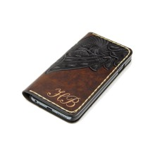 Custodia in pelle per iPhone X a libro - Liberty