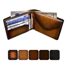 Portafoglio da uomo personalizzabile in pelle - Classic con portamonete