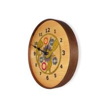 Orologio da parete ricamato - vista laterale