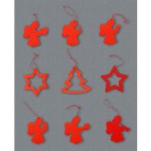 Decorazioni per albero - Figure rosse 9 PZ