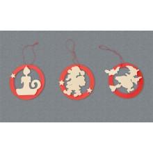 Decorazioni per albero - Candela, Babbo Natale, Befana