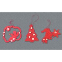 Decorazioni per albero - Angelo, albero e Babbo Natale