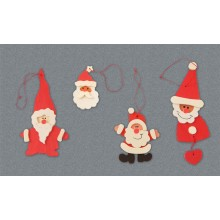 Decorazioni per albero - Babbo Natale 4 PZ