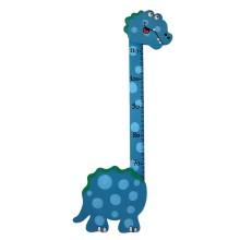 Metro in legno per bambini - Dinosauro blu