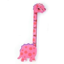 Metro in legno per bambini - Dinosauro rosa