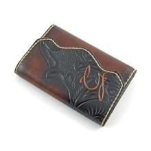 Portafoglio donna personalizzabile in pelle con portamonete - Onda