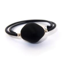 Bracciale in vetro di murano - Black Stone