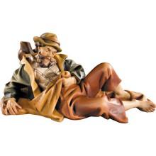 Statuina in legno presepe: Pastore dormiente