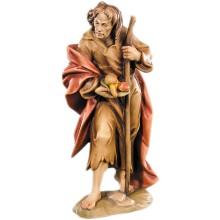 Statuina in legno presepe: Pastore con frutta