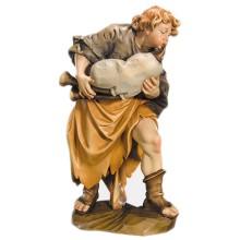 Statuina in legno presepe: Zampognaro