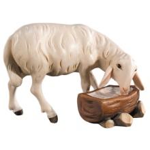 Statuina in legno presepe: Pecora con abbeveratoio